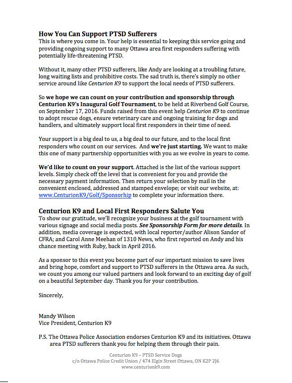sponsorship letter copywriting