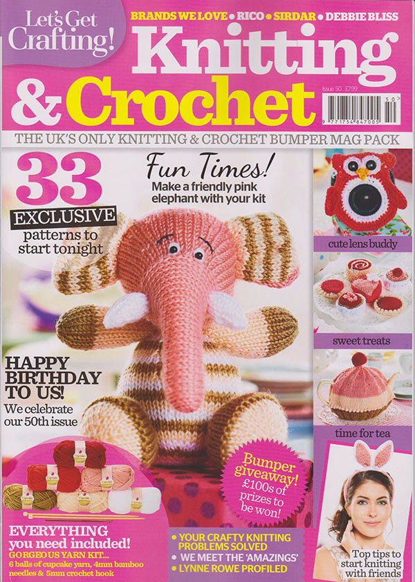 Knitting Toys Magazine : Let s get crafting magazine issue on behance
