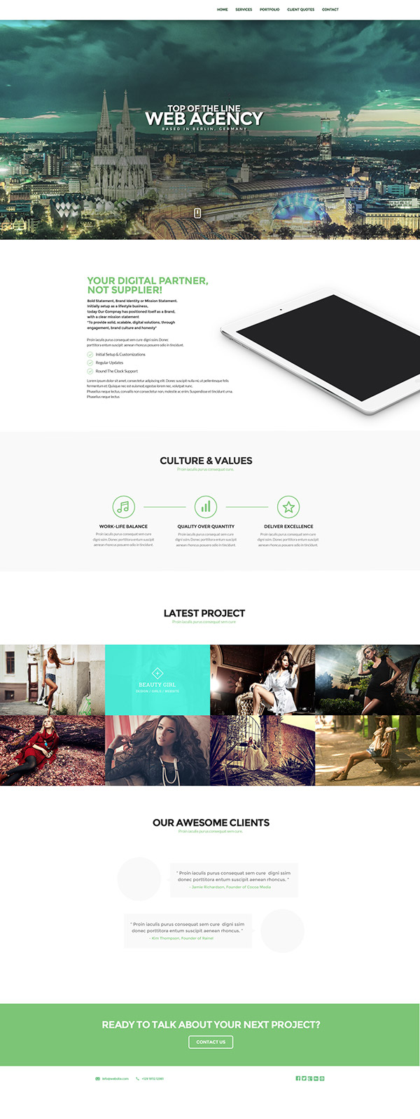 agency Web media minimal White design studio One onepage One Page