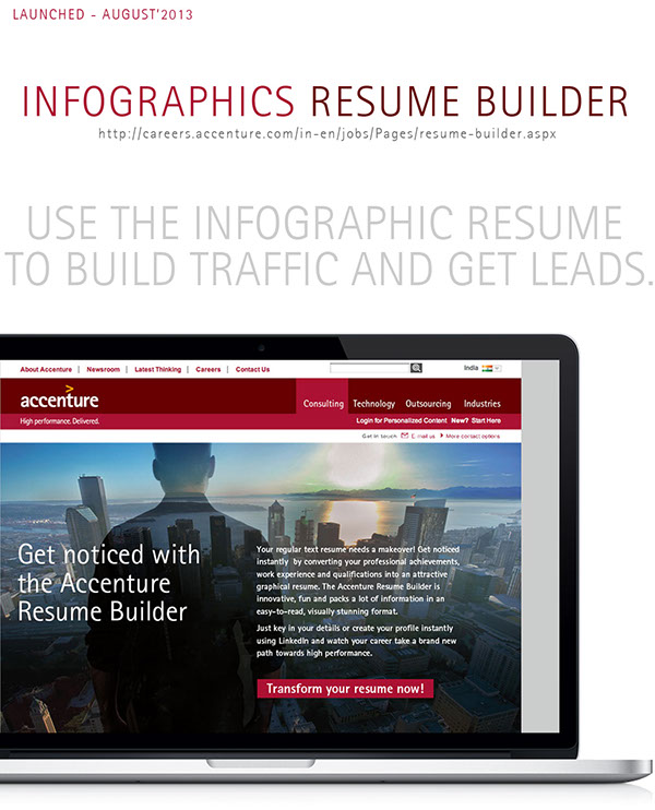 Good Interactive Resume Builder On Behance For Interactive Resume Builder
