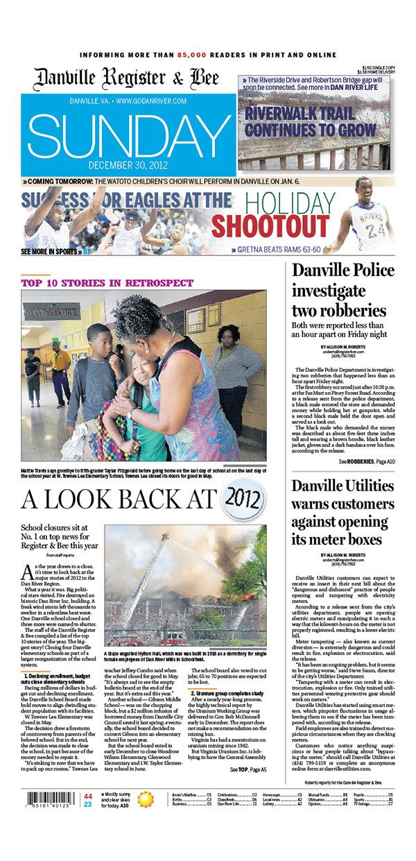 Newspaper designs: Danville Register & Bee on Behance