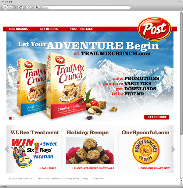 Post Cereal Website Redesign On AIGA Member Gallery
