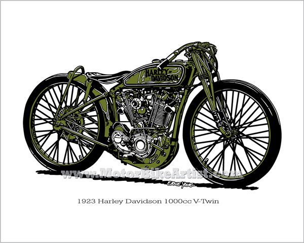 HARLEY DAVIDSON BOARD TRACK RACER Motorcycle Vector Art On Behance