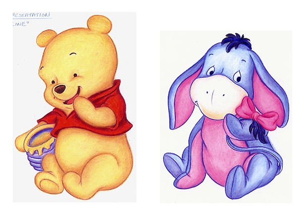 baby winnie the pooh plush designs on behance