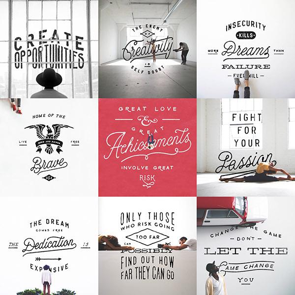 Handlettering lettering font type