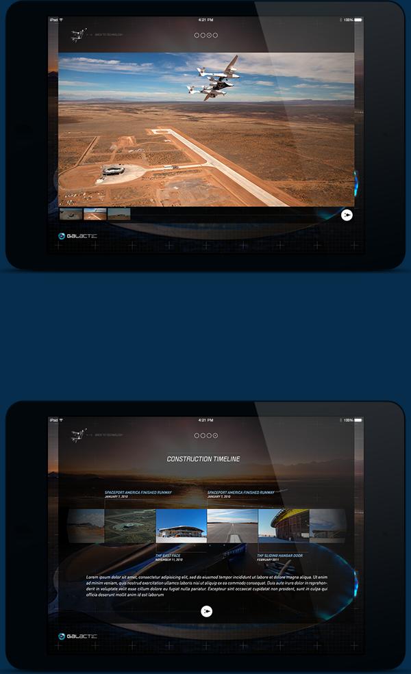 iPad application airline commercial journey astronaut Space  flight virgin adventure