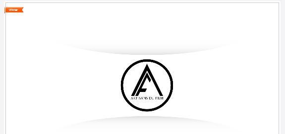 winning logo design in 99designs.com contest.Artisans Du Film a movie ...
