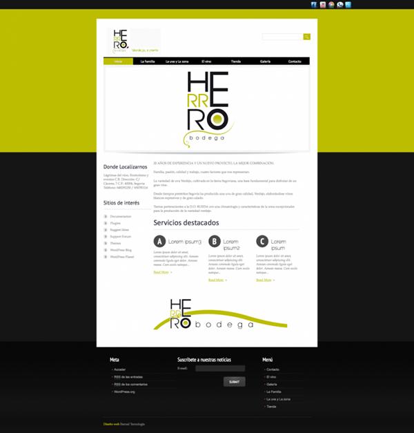 Web designs herrero bodega grafico diseño para empresa iberzal