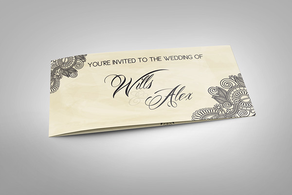 Wedding invitation card v2 on behance wedding invitation card v2 it is a professional and clean indesign invitation card template that can be used for wedding and events cards stopboris Gallery