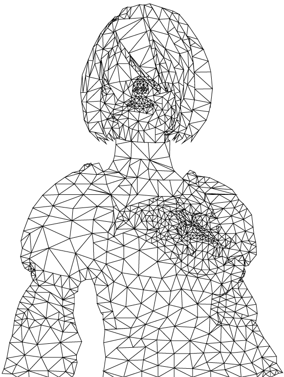 polygon art nier automata 2B