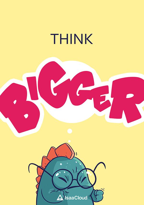Isaacloud poster think bigger koniu sointeractive