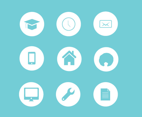 Resume icons on behance for Free resume icons