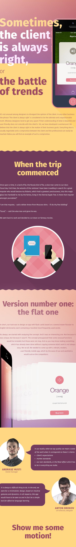 english cards UI ux app design iphone 6 flat ios 8 Skeuomorph trend motion Flash Cards