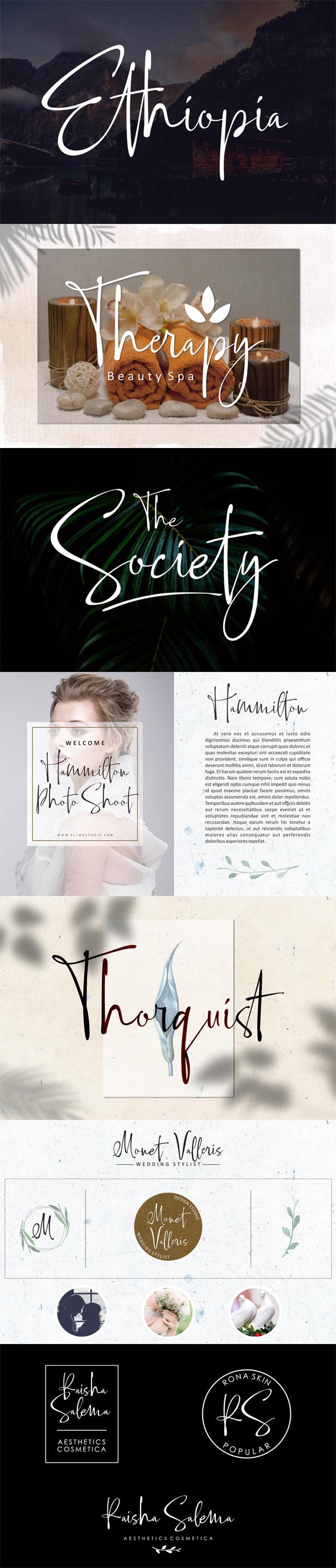 calligraphy font Script Font Girly sweet Font Romantic elegant branding  Mockup wedding logo