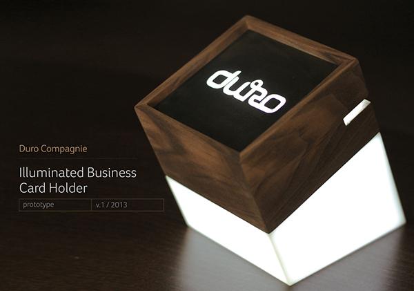 Duro business card holder on Behance