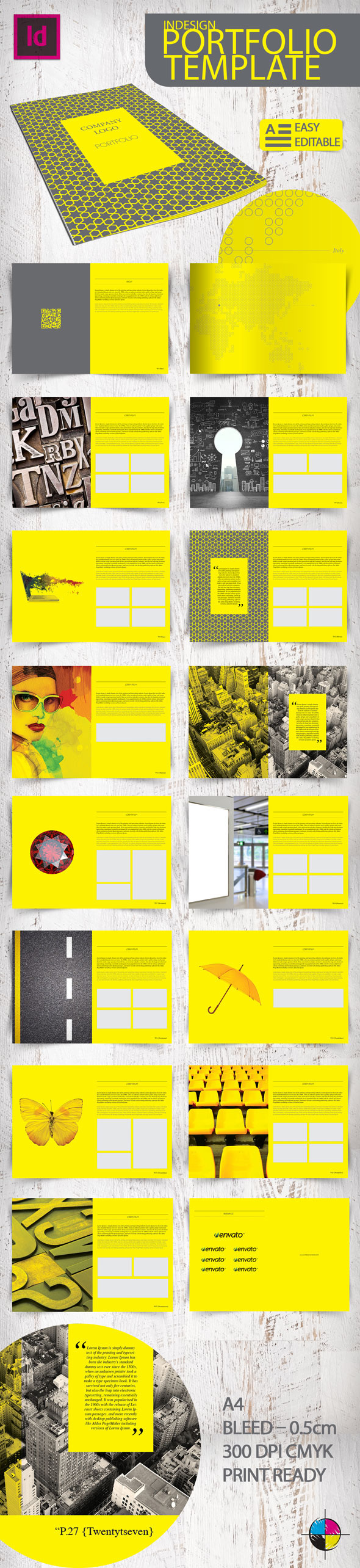 Indesign portfolio template on behance for Free indesign portfolio templates
