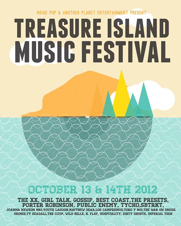 Treasure Island Festival Posters