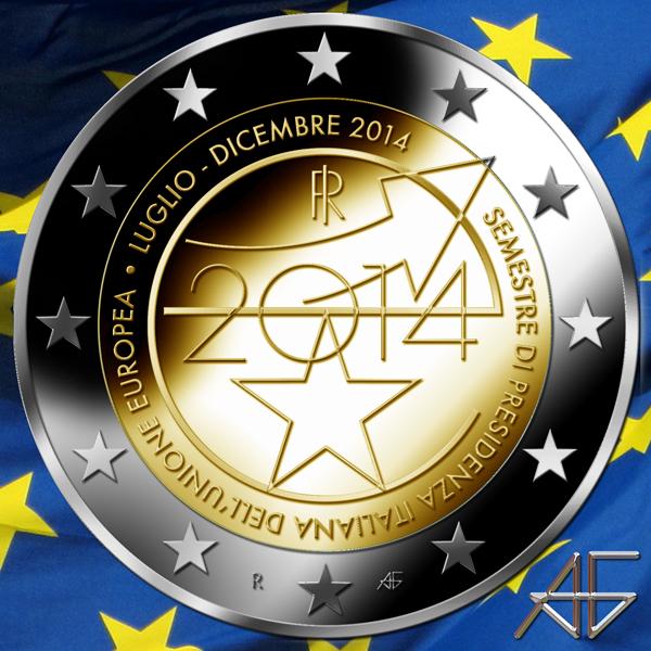 2 euro euro Europe Italy bimetallic coin coins money