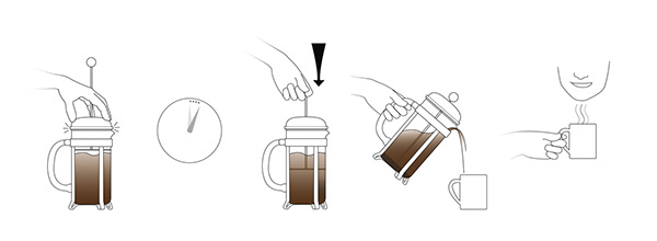 french coffee maker instructions