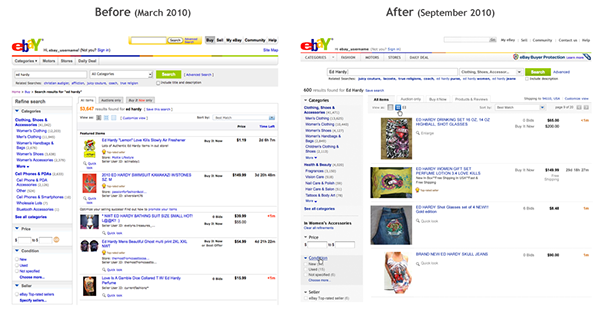 Ebay Search Page On Behance