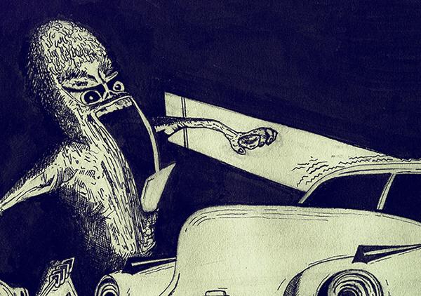 Stephen King mistery horror Copic novel lovecraft Terror police buick automotive