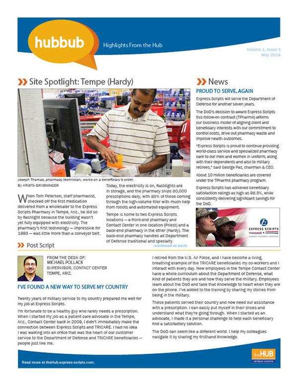 Hubbub Newsletter Layout On Behance