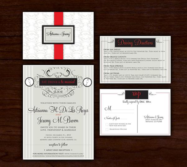 New Years Eve Wedding Invitations On Behance