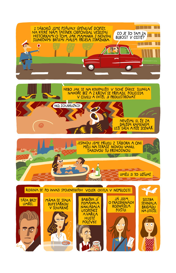 štafle lenka prochazkova comics Retro 70's aargh!