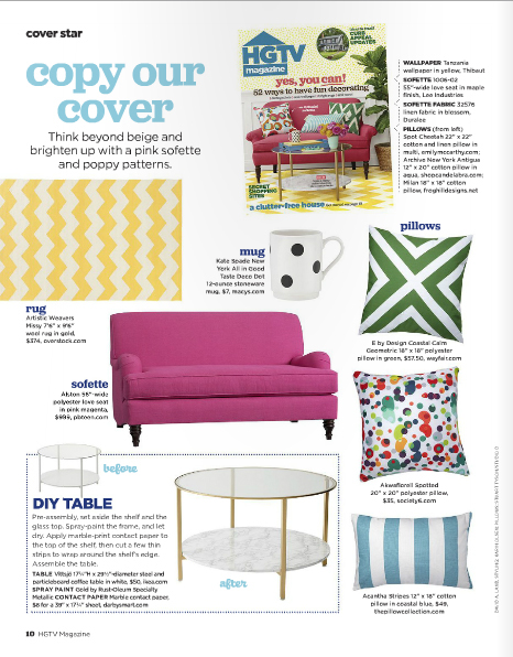 My design spotted featured in hgtv magazine on behance for Publish my design