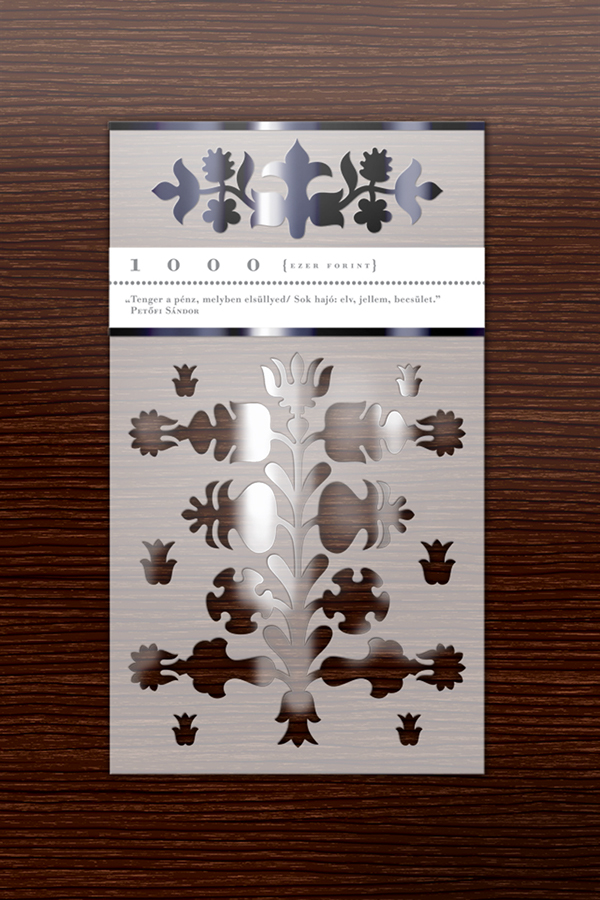Banknote money ornament plastic