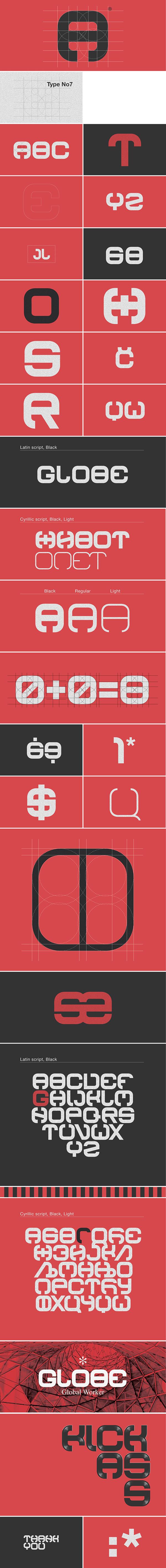 font tipeface industrial design typo Script red black gray graphic modern Global Latin alphabet Cyrillic