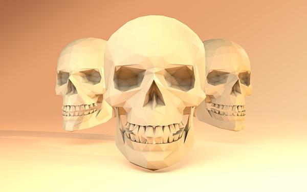 skulls low-poly