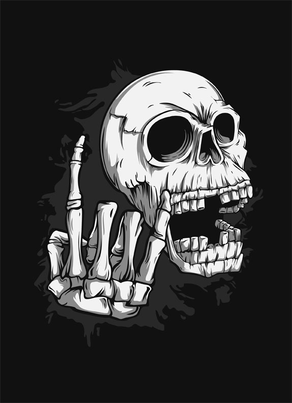 Rock and Roll Skull on Behance