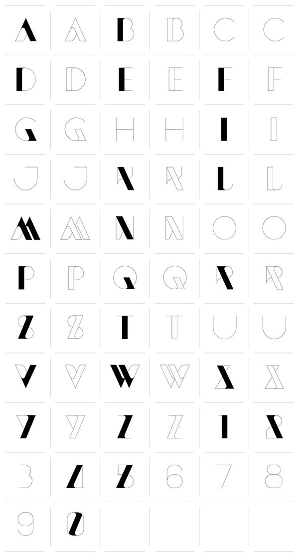 Newmodern typeface sawdust on behance