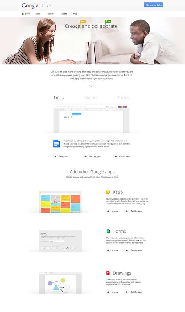 how to add google drive to google homepage