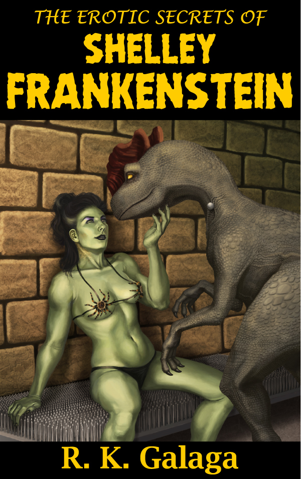 Dinousaur Erotica book cover illustration dino erotica