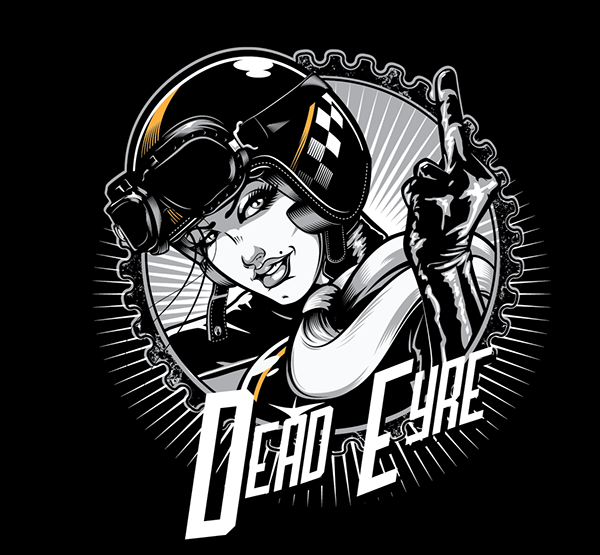 "Dead Eyre Clothing T-Shirt Design ""Cafe Chick"" by Paul Ainsworth"