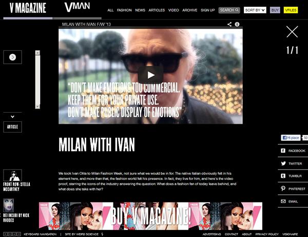 ivan  olita v magazine milan fashion week karl lagerfeld VERSACE Dsquared2
