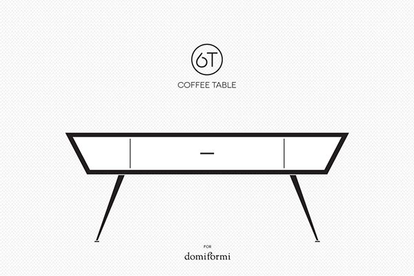 6t coffee table on behance for 60s style coffee table