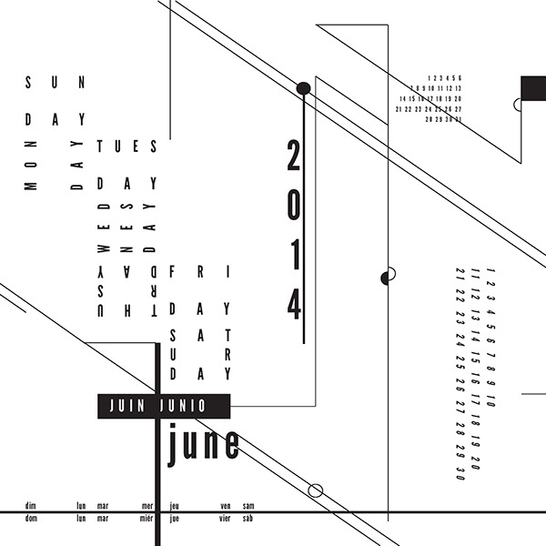 calendar deconstruction design