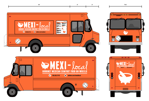 branding mexi local food truck on behance