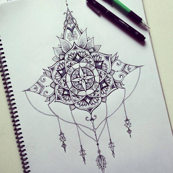 Mandala / Back tattoo piece on Behance Бесконечный Узел Тату