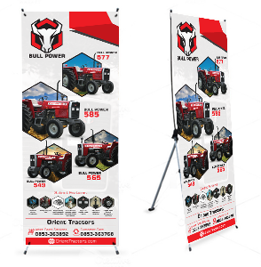 Advertising  banner business design marketing   Stand Standees Design standees designing x standee