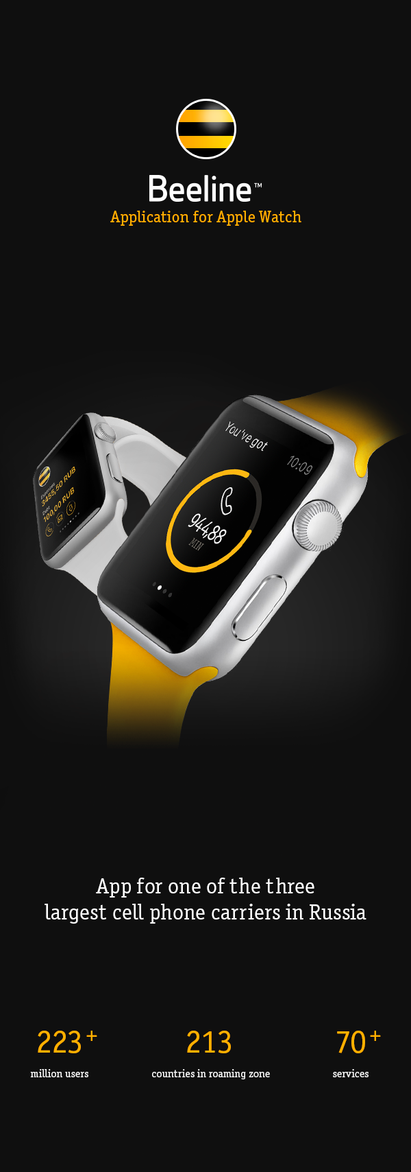 apple watch watch user interface user Experience smart watch beeline mobile redmadrobot iwatch app wear apple