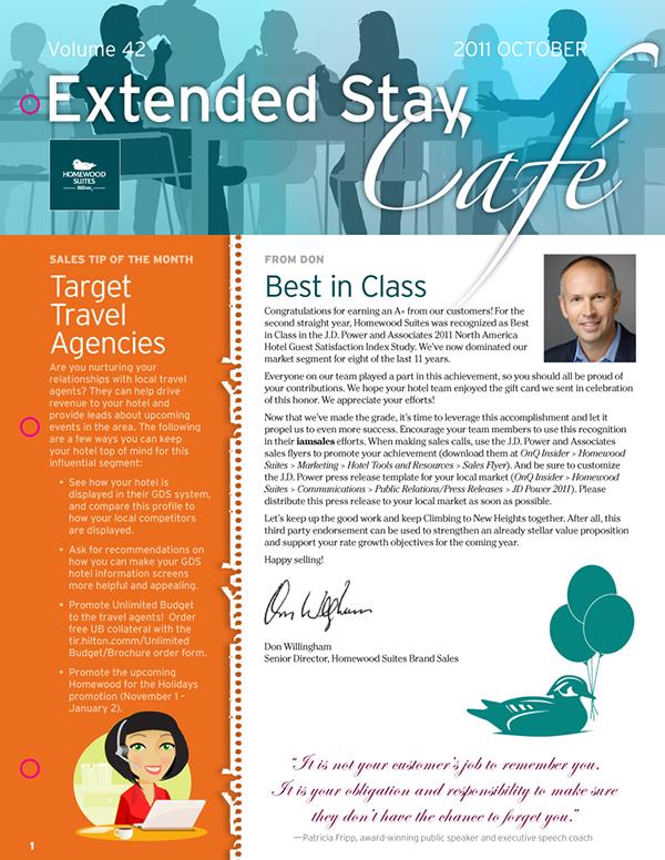 Homewood Extended Stay Caf Newsletter on Behance – Newsletter Format
