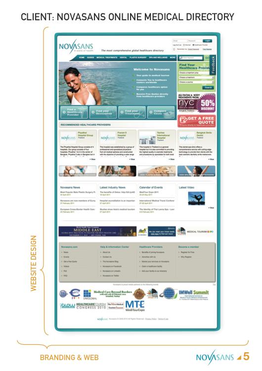 Web design novasans medical directory on scad portfolios for Designer directory