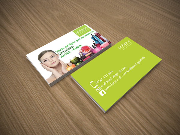 Carte Visite Oriflame On Behance