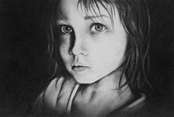 Faces of Coal - Charcoal Drawings on Behance