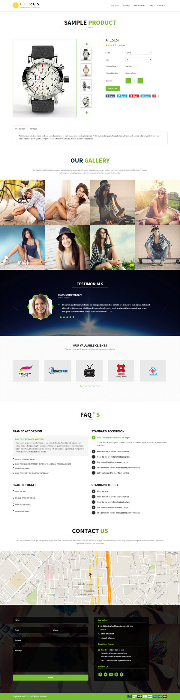 Citrus one page parallax shopify theme on pantone canvas for Page 3 salon coimbatore