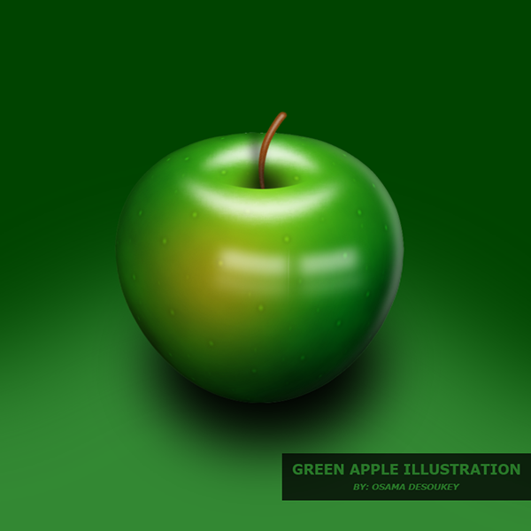 delicious green apple illustration-#6